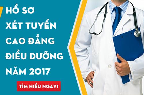 Hướng dẫn hoàn thiện hồ sơ xét tuyển Cao đẳng Điều dưỡng năm 2017