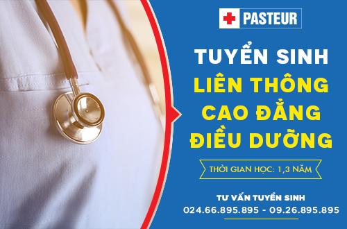 Đào tạo Liên thông Cao đẳng Điều dưỡng - Trường Cao đẳng Y dược Pasteur