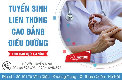 Trường Cao đẳng Y dược Pasteur là địa chỉ Liên thông Cao đẳng Điều dưỡng uy tín