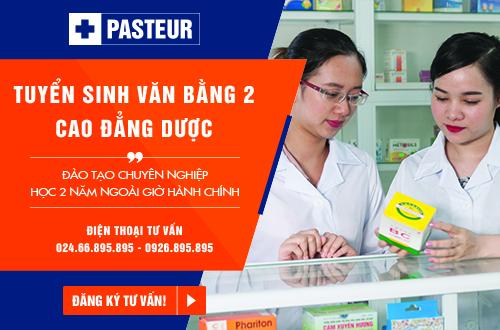 Trường Cao đẳng Y Dược Pasteur thông báo tuyển sinh Văn bằng 2 Cao đẳng Dược