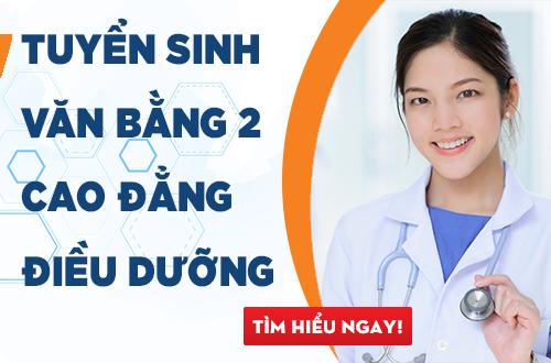 tuyển sinh văn bằng 2 cao đẳng điều dưỡng