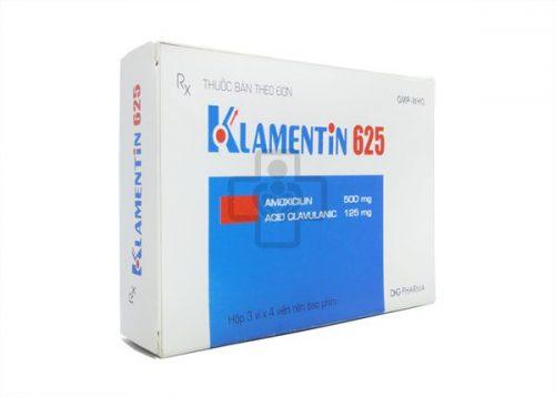 Thuốc Klamentin 625mg thường được dùng để điều trị nhiễm khuẩn