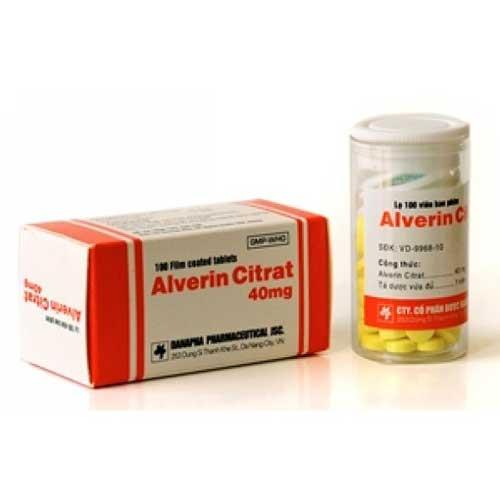 Tác dụng của thuốc Alverin Citrate 40mg